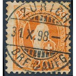 1901 - Switzerland  Sc# 82b  0. Helvetia. Large  Numerals. 11 1/2 : 12 (Scott)