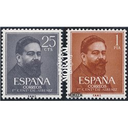 1960 Espagne 997/998 Albéniz  **MNH TTB Très Beau  (Yvert&Tellier)