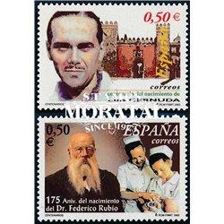 2002 Spain  Sc 3163/3164 Centenarians Personalities **MNH Very Nice, Mint Hever Hinged?  (Scott)