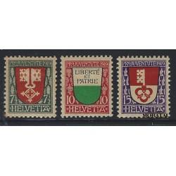 1919 - Switzerland  Sc# B12/B14  * MH Nice. Pro Juventute 19 (Scott)