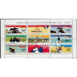 2002 Spanien 3743/3749  Zd-Bogen MP-Pferde  ** Perfekter Zustand  (Michel)