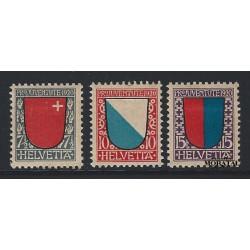 1920 - Switzerland  Sc# B15/B17  * MH Nice. Pro Juventute 20 (Scott)
