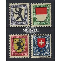 1924 - Switzerland  Sc# B29/B32  * MH Nice. Pro Juventute 24 (Scott)