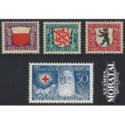 1928 - Switzerland  Sc# B45/B48  * MH Nice. Pro Juventute 28 (Scott)