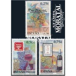 2002 Espagne 3477/3479  Appellation d'origine vins  **MNH TTB Très Beau  (Yvert&Tellier)