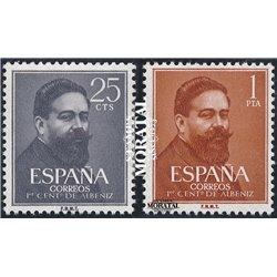 1960 Spanien 1215/1216 Albéniz  * Falz Guter Zustand  (Michel)