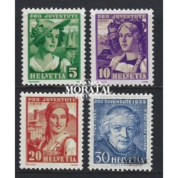 1933 - Switzerland  Sc# B65/B68  (*) MNG Nice. Pro Juventute 33 (Scott)
