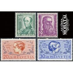 1937 - Switzerland  Sc# B85/B88  * MH Nice. Pro Juventute 37 (Scott)