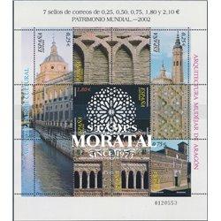 2002 Espagne 3504/3510  Feuille Patrimoine de MP  **MNH TTB Très Beau  (Yvert&Tellier)