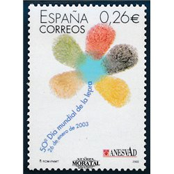 2003 Spanien 3815 50. Tag der Lepra  ** Perfekter Zustand  (Michel)