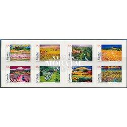 2003 Spanien Markenheftchen 3826/3833 Carnet-Landschaften (Klebstoffe)  ** Perfekter Zustand  (Michel)