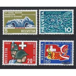 1964 - Switzerland  Sc# 434/437  ** MNH Very Nice. Years Events (Scott)