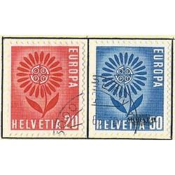 1964 - Switzerland  Sc# 438/439  © Used, Nice. Europa 64 (Scott)