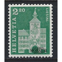 1964 - Switzerland  Sc# 453  ** MNH Very Nice. Postal history motifs and architectural monuments. (Scott)