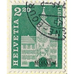 1964 - Switzerland  Sc# 453  © Used, Nice. Postal history motifs and architectural monuments. (Scott)