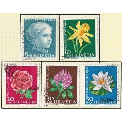 1964 - Switzerland  Sc# B339/B343  © Used, Nice. Pro Juventute 64 (Scott)