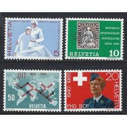 1965 - Switzerland  Sc# 462/465  ** MNH Very Nice. Years Events (Scott)
