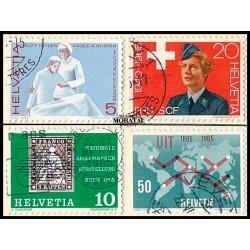 1965 - Switzerland  Sc# 462/465  © Used, Nice. Years Events (Scott)