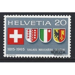 1965 - Switzerland  Sc# 466  ** MNH Very Nice. 150th anniversary entry cantons of Swiss Confederation. (Scott)