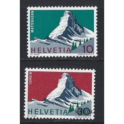 1965 - Switzerland  Sc# 467/468  ** MNH Very Nice. Year ot the Alps (Scott)