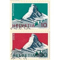 1965 - Switzerland  Sc# 467/468  © Used, Nice. Year ot the Alps (Scott)
