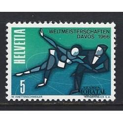 1965 - Switzerland  Sc# 470  ** MNH Very Nice. Skating Championships (Scott)