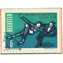 1965 - Switzerland  Sc# 470  © Used, Nice. Skating Championships (Scott)