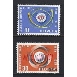 1965 - Switzerland  Sc# 471/472  ** MNH Very Nice. Cent. of the  ITU (Scott)