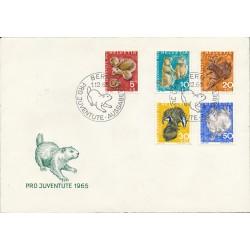 1965 - Switzerland  Sc# B350/B354  F.D.C.  Nice. Pro Juventute 65 (Scott)