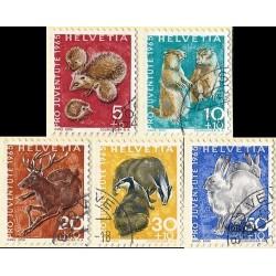 1965 - Switzerland  Sc# B350/B354  © Used, Nice. Pro Juventute 65 (Scott)