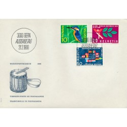 1966 - Switzerland  Sc# 473/475  F.D.C.  Nice. Years Events (Scott)