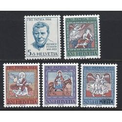 1966 - Switzerland  Sc# B355/B359  ** MNH Very Nice. Pro Patria 66 (Scott)
