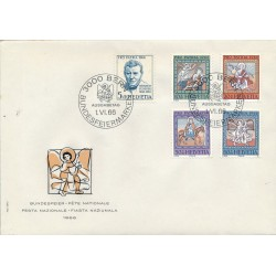 1966 - Switzerland  Sc# B355/B359  F.D.C.  Nice. Pro Patria 66 (Scott)