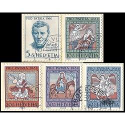 1966 - Switzerland  Sc# B355/B359  © Used, Nice. Pro Patria 66 (Scott)