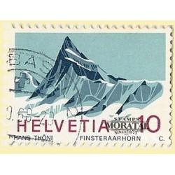 1966 - Switzerland  Sc# 479  © Used, Nice. Finsteraarhorn (Scott)