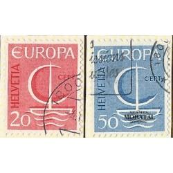 1966 - Switzerland  Sc# 477/478  © Used, Nice. Europa 66 (Scott)