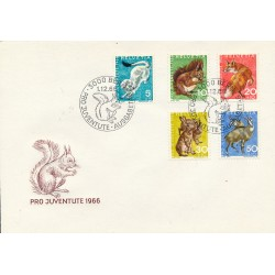 1966 - Switzerland  Sc# B360/B364  F.D.C.  Nice. Pro Juventute 66 (Scott)