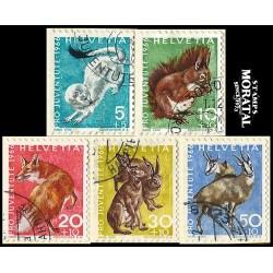 1966 - Switzerland  Sc# B360/B364  © Used, Nice. Pro Juventute 66 (Scott)