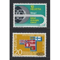 1967 - Switzerland  Sc# 480/481  ** MNH Very Nice. Years Events (Scott)