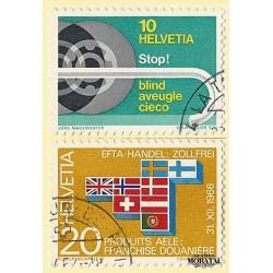 1967 - Switzerland  Sc# 480/481  © Used, Nice. Years Events (Scott)