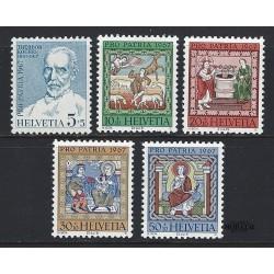 1967 - Switzerland  Sc# B365/B369  ** MNH Very Nice. Pro Patria 67 (Scott)