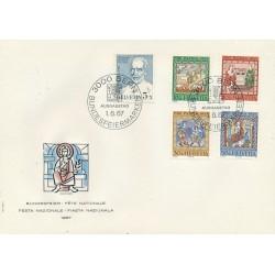 1967 - Switzerland  Sc# B365/B369  F.D.C.  Nice. Pro Patria 67 (Scott)