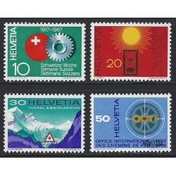1967 - Switzerland  Sc# 483/486  ** MNH Very Nice. Years Events (Scott)