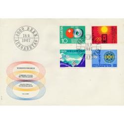 1967 - Switzerland  Sc# 483/486  F.D.C.  Nice. Years Events (Scott)