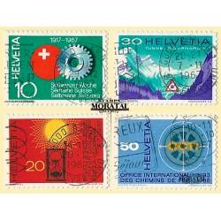 1967 - Switzerland  Sc# 483/486  © Used, Nice. Years Events (Scott)