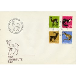 1967 - Switzerland  Sc# B370/B373  F.D.C.  Nice. Pro Juventute 67 (Scott)