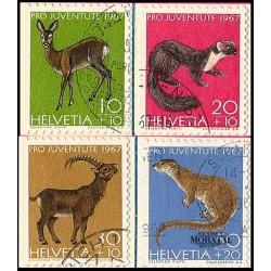 1967 - Switzerland  Sc# B370/B373  © Used, Nice. Pro Juventute 67 (Scott)