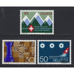 1968 - Switzerland  Sc# 487/490  ** MNH Very Nice. Years Events & Europa 68 (Scott)