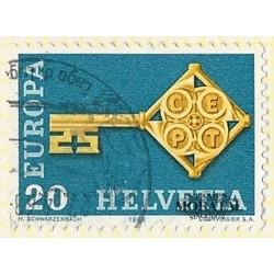 1968 - Switzerland  Sc# 0  © Used, Nice. Years Events & Europa 68 (Scott)