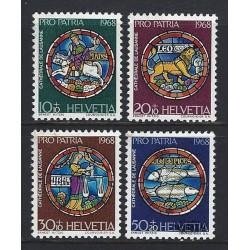 1968 - Switzerland  Sc# B374/B377  ** MNH Very Nice. Pro Patria 68 (Scott)